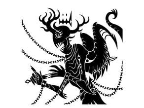 Imprisoned Demon stencil