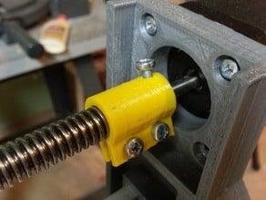 NEMA17 motor to Acme lead screw shaft coupling