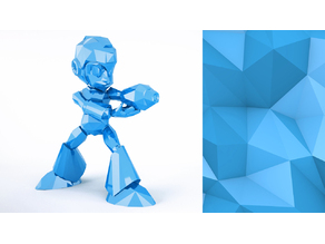 Mega Man Action Figure_Low Poly