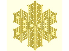 Cellular automaton snowflake generator in OpenSCAD
