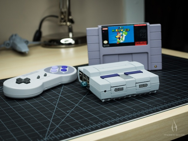 Mini SNES - Raspberry Pi 2/3 Case by AndrewBougie - Thingiverse