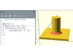 "OpenSCAD ""welding parts"""