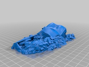 28mm Modular Buildings & Scenery - OpenLOCK 3D Printable #2 - Car Wreck - Kickstarter