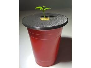Solo Cup Kratky Planter (fits 1-inch Rockwool)