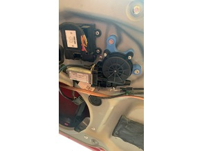 VW Caddy 3 2K electric power window conversion