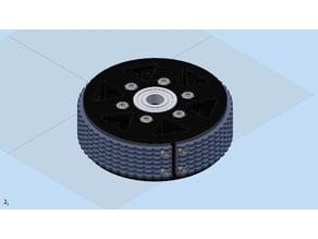 Lightweight 4in Diameter Traction Wheel
