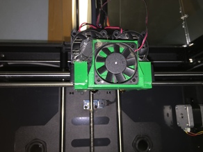 PowerSpec 3D Pro/FlashForge Creator Pro Screwless (ABS and Acetone) 40mm Fan Duct