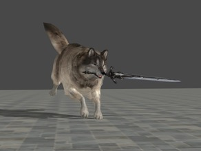 Sif, the Great Grey Wolf - Dark souls