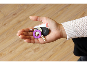 Multi-Color International Women's Day Keychain