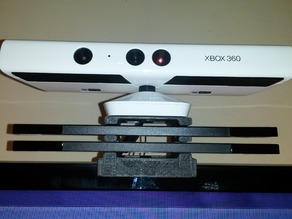 Kinect and 2 Wii Sensorbars TV mount