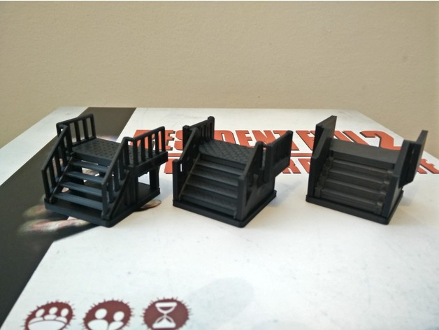 Stair Kits For Resident Evil 2 The Board Game 3 Designs By Gieve
