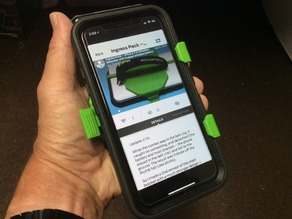 Ingress Pack -- iPhone X in Otterbox Defender with Kuppet wireless battery