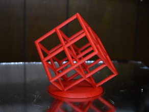 Lattice Cube 3D Printer Torture Test (Overhangs and Dual-Extrusion)
