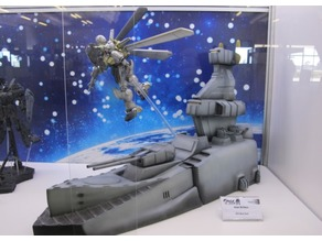 Mobile Suit Gundam 1:100 Magellan class ship diorama