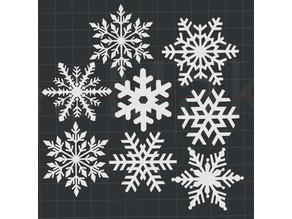 Christmas Snowflakes!! 2D Wall Art