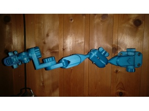 Articulating arm 90 degrees braket