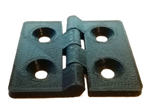 Parametric interlocking hinge for aluminum extrusion for Fusion 360 (common sized prerendered)