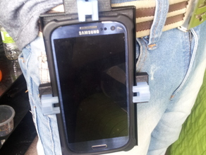 Customizable belt phone case