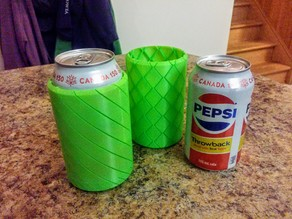 Spiral vase soda can cooler
