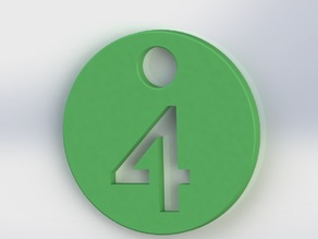 Number Keychain, Tag