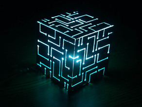 Alien Cube With Lights
