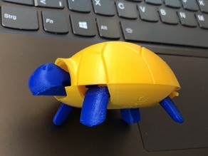 Squishy Turtle Remix (2-color-bottom single print)