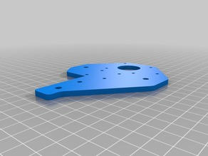 Tronxy X1 X Bracket with holes for linear rails (MGN12H)