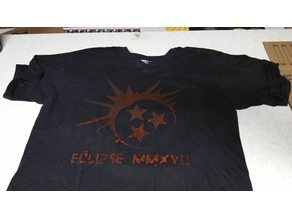Stencil for bleaching/spray painting eclipse logos