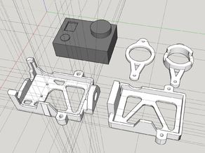 Firefly 6s action camera gimbal mount for quadrocopter