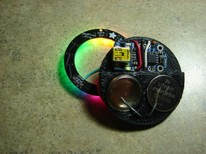 2x cr2032 battery mount (made for an LED shirt button)