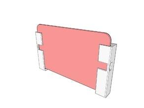 Two-part wallmount for Google Nexus 7(2012)