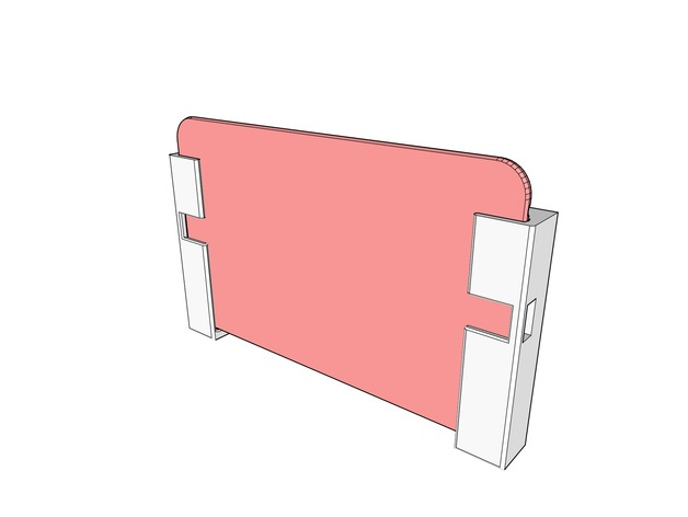 Two Part Wallmount For Google Nexus 72012 By Mpaulus Thingiverse