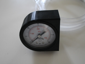 Printed Mounting Piece for Winters 0-60PSI Gauge