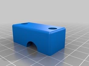 E3D V6 hotend extruder mount cover w/o holes