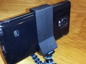 Camera Tripod Clip for Samsung Galaxy Note 4 w/ Silicone Case