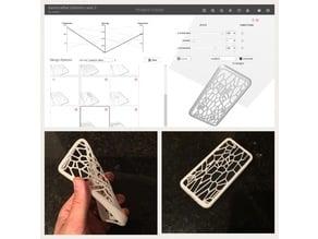 """""""Cracked Back"""" Generative voronoi pattern iPhone 7/8 case"""