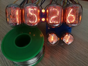 Nixie tube socket for 4 IN-12s and 2 IN-2s