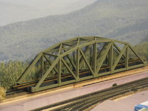 HO Scale126 ft Steel Arched Truss Bridge