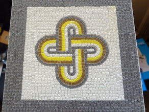 Roman Mosaic - 4 colours King Solomon knot