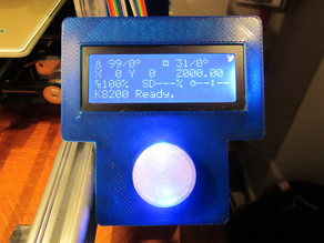K8200 standalone with blue lighted button