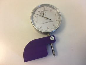Simple dial indicator support