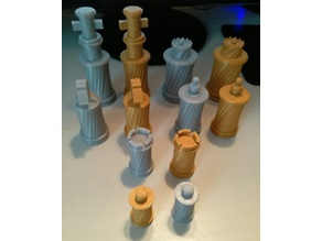 Twisted Chess Pieces