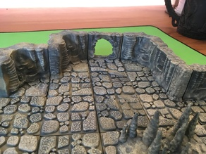 Cavern Tiles Passage/Hole (Openforge 2.0 compatible) 2x2 Wall Remix