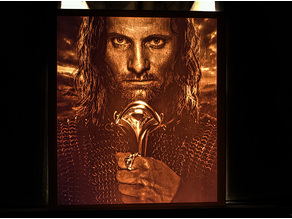 Aragorn lithophane