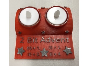 2-Bit Advent Tea Light Holder