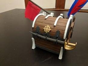 Ixalan-themed Pirate Chest Deck Box
