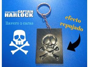 Llavero Capitan Harlock (EFECTO REPUJADO)