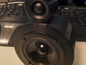 3 inch speaker with 3/4 tweeter.