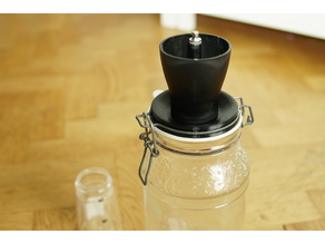 Hario coffee grinder glass jar adapter