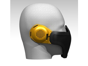 Airsoft Ear Protection for mesh mask